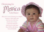 Sweet Simple Pink Girls Baptism & Christening Invitation